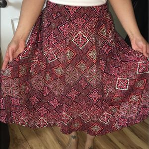 ASOS Mosaic midi circle skirt